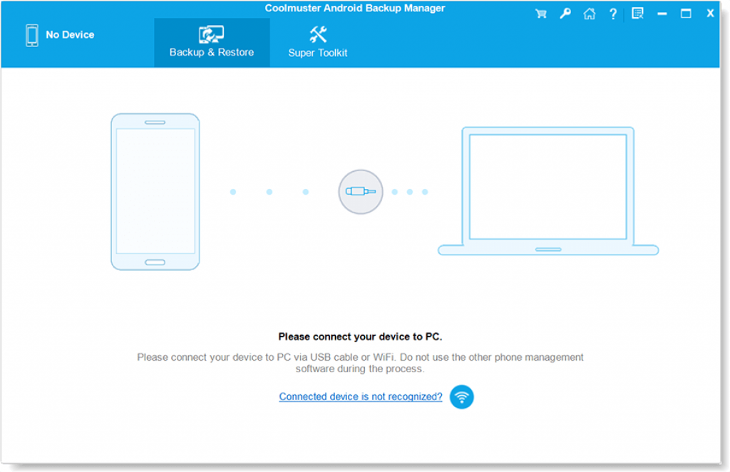 Coolmuster Android Backup Manager 2.2 Interface