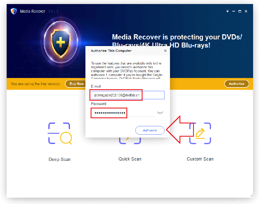 DVDFab Media Recover 1 Activating 2