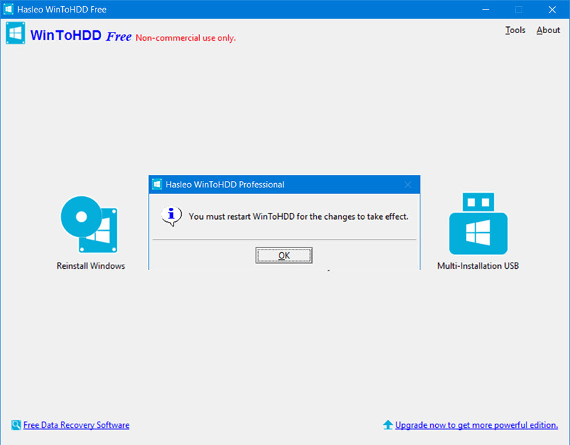 WinToHDD Professional 4 Activating 3