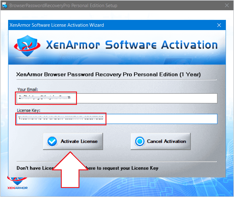 XenArmor Browser Password Recovery Pro 2021 Activating 1