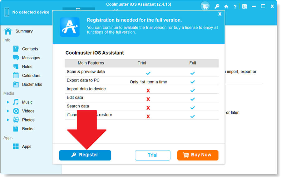 Coolmuster iOS Assistant 2.41 Activating 2