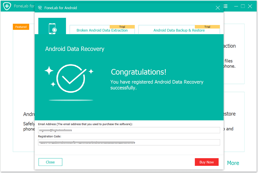 Aiseesoft FoneLab Android Data Recovery 3 Activating 2