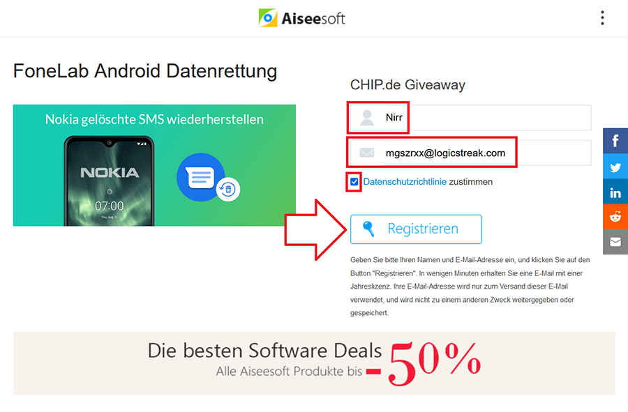 Aiseesoft FoneLab Android Data Recovery 3 Giveaway 1
