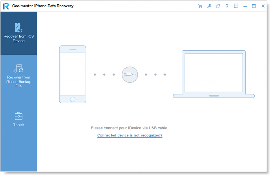 Coolmuster iPhone Data Recovery 3.1.5 Interface