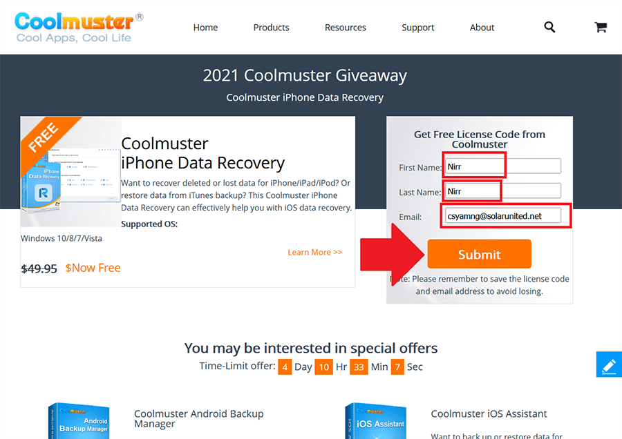 Coolmuster iPhone Data Recovery Giveaway 3.1.5 1