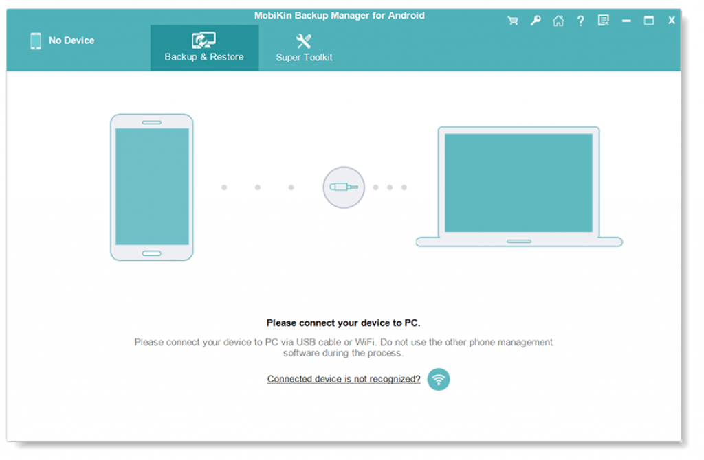 MobiKin Backup Manager for Android 1.2 Interface