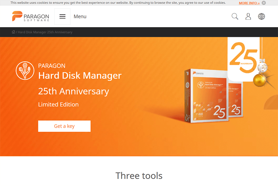 Paragon Hard Disk Manager 25 Anniversary LE 1