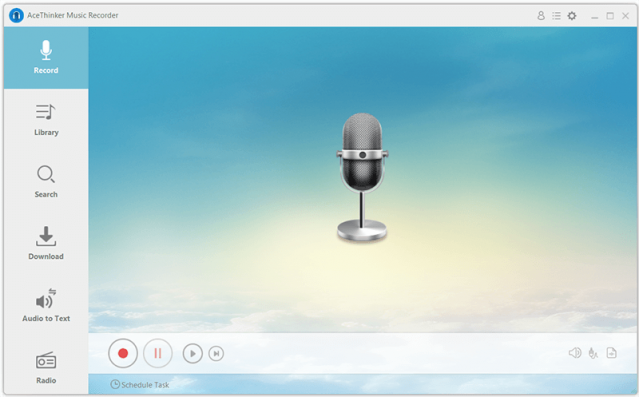 AceThinker Music Recorder 1.2.6 Interface