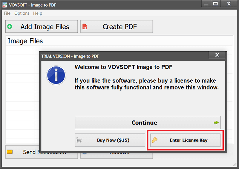 vovsoft Image to PDF 2.6 activating 1