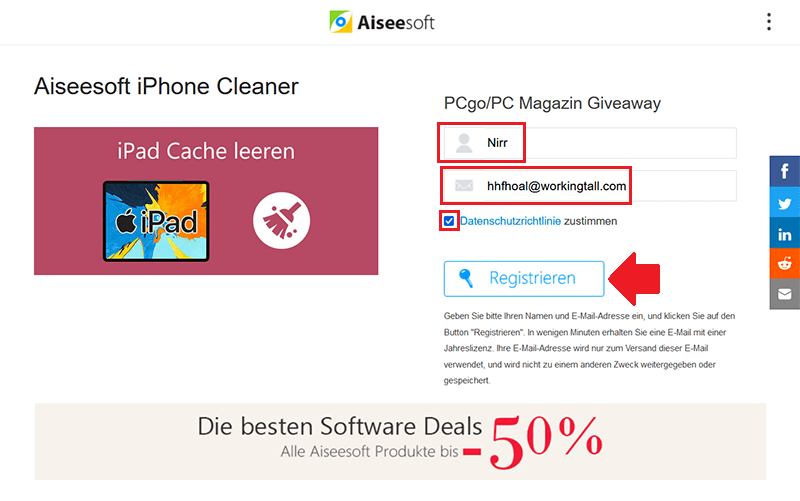 Aiseesoft iPhone Cleaner 1.0.12 Giveaway 1