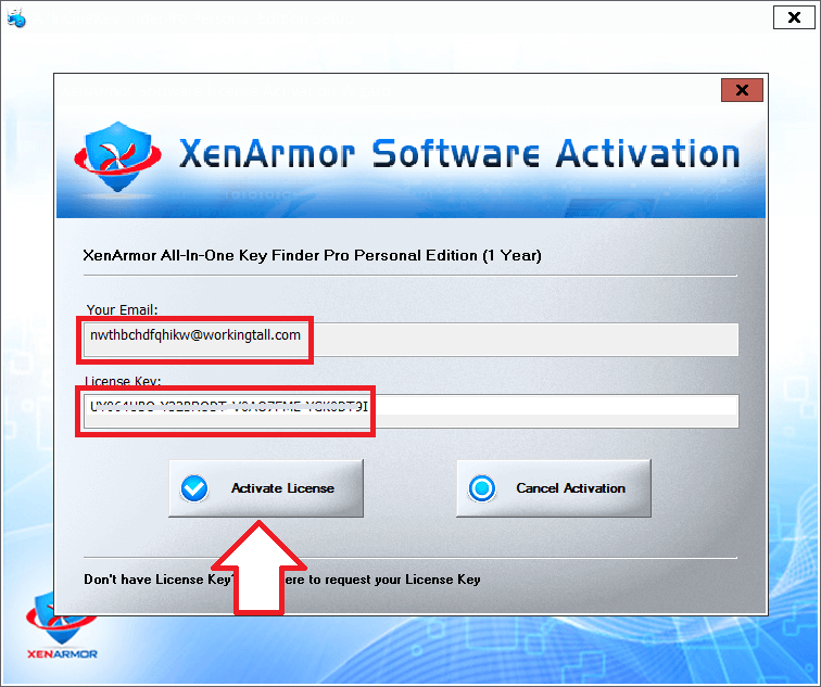XenArmor All In One Key Finder Pro 8 Activating 1